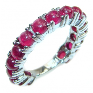 Large Natural Garnet .925 Sterling Silver Statement ring size 8 3/4