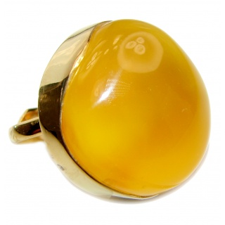 HUGE Genuine Butterscotch Baltic Amber .925 Sterling Silver handmade Ring size 8 adjustable