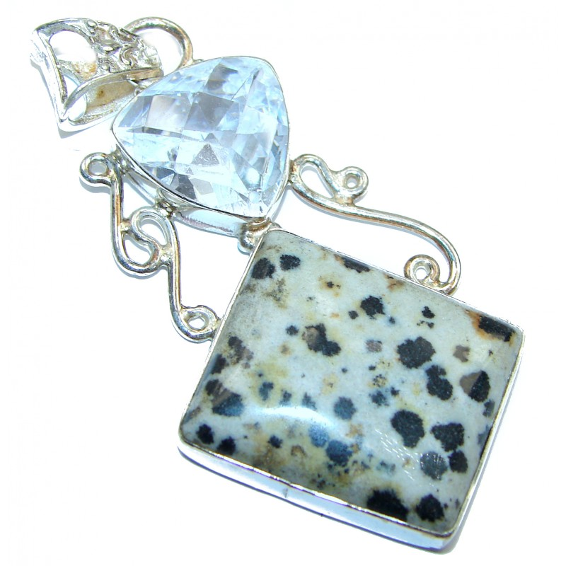 Perfect Storm Perfect quality Dalmatian Jasper .925 Sterling Silver handmade Pendant