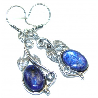 Outstanding Sublime Blue Lapis Lazuli .925 Sterling Silver earrings