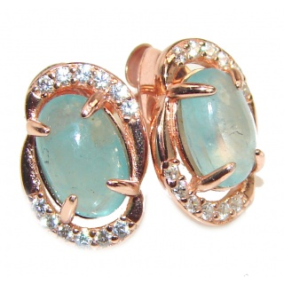 Authentic Apatite .925 Sterling Silver earrings