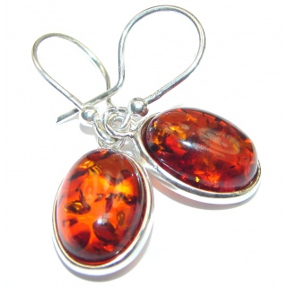 Natural Baltic Amber 18K Gold over .925 Sterling Silver handmade Pendant