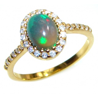 Vintage Design 2.5ctw Genuine Black Opal .925 Sterling Silver handmade Ring size 7 1/2
