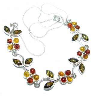 Perfect Together Best quality authentic Amber .925 Sterling Silver handmade necklace