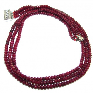 Huge Incredible Ruby Beads Necklace 18 inches necklace