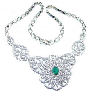 Exclusive Emerald .925 Sterling Silver handmade Necklaces