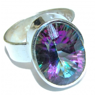 Awesome Natural Magic Topaz .925 Silver Ring size 10