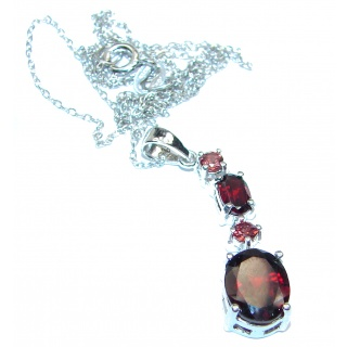 Sublime Garnet .925 Sterling Silver handmade Necklace
