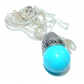 Turquoise .925 Sterling Silver statement necklace