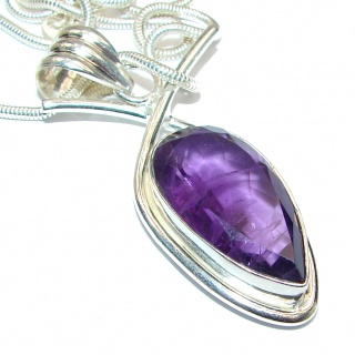 Fancy Style Amethyst .925 Sterling Silver necklace