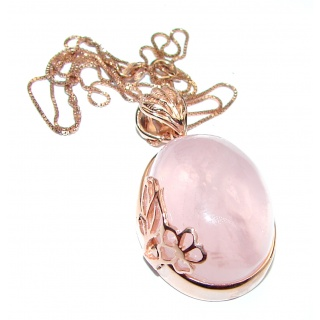 Authentic Rose Quartz .925 Sterling Silver handcrafted necklace