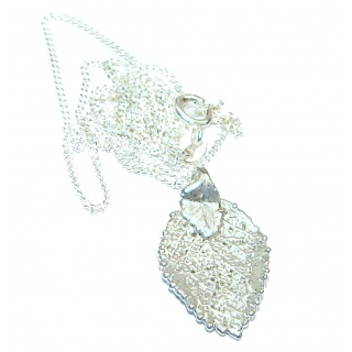 Leaf Deep In Silver .925 Sterling Silver necklace