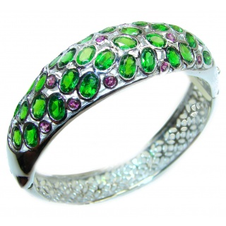 Authentic Chrome Diopside Garnet .925 Sterling Silver handcrafted Bracelet
