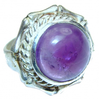 Purple Perfection Amethyst .925 Sterling Silver Ring size 7 1/4