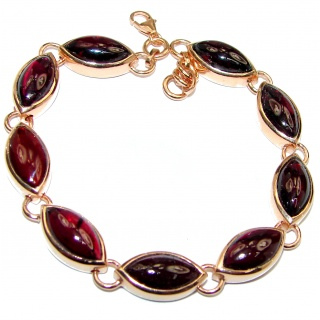 Secret Beauty authentic Garnet Rose Gold over .925 Sterling Silver handcrafted Bracelet