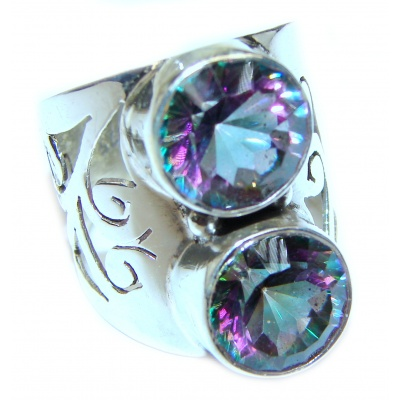Awesome Natural Magic Topaz .925 Silver Ring size 8