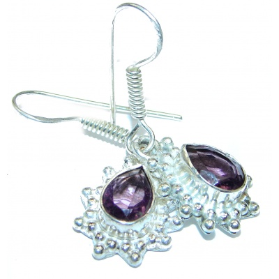 Purple Amethyst .925 Sterling Silver handmade Earrings