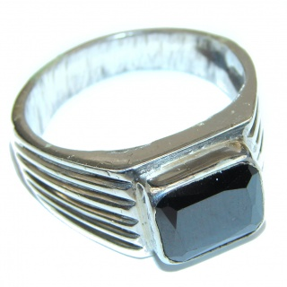 Majestic Authentic Onyx .925 Sterling Silver handmade Ring s. 13