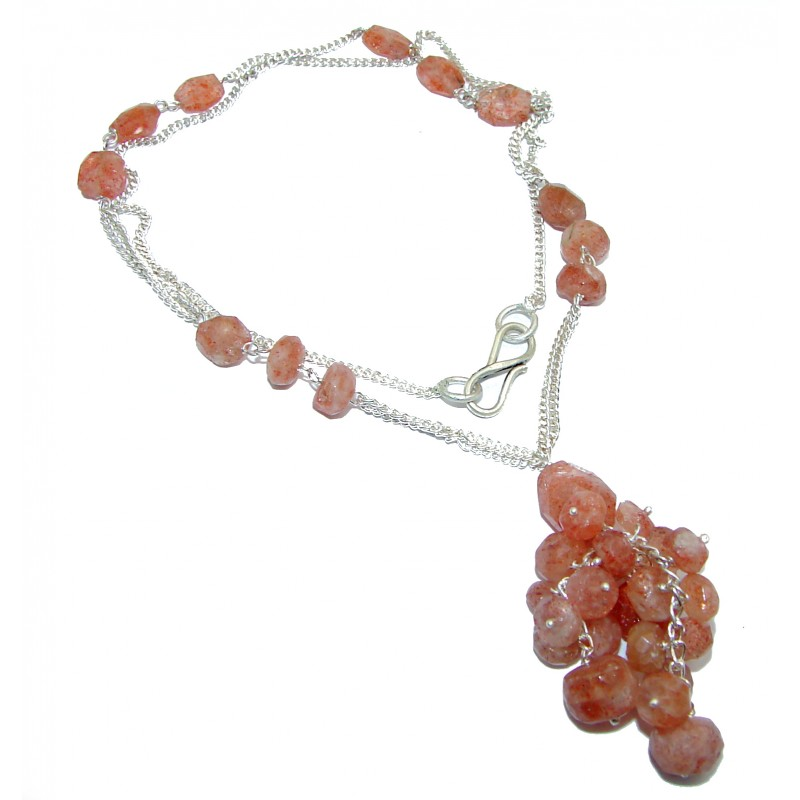 Ray Of Light Golden Calcite .925 Sterling Silver necklace
