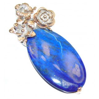 Blue Lapis Lazuli .925 Sterling Silver handcrafted Pendant