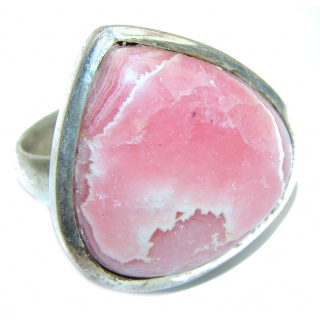Argentinian Rhodochrosite .925 Sterling Silver handmade ring size 6