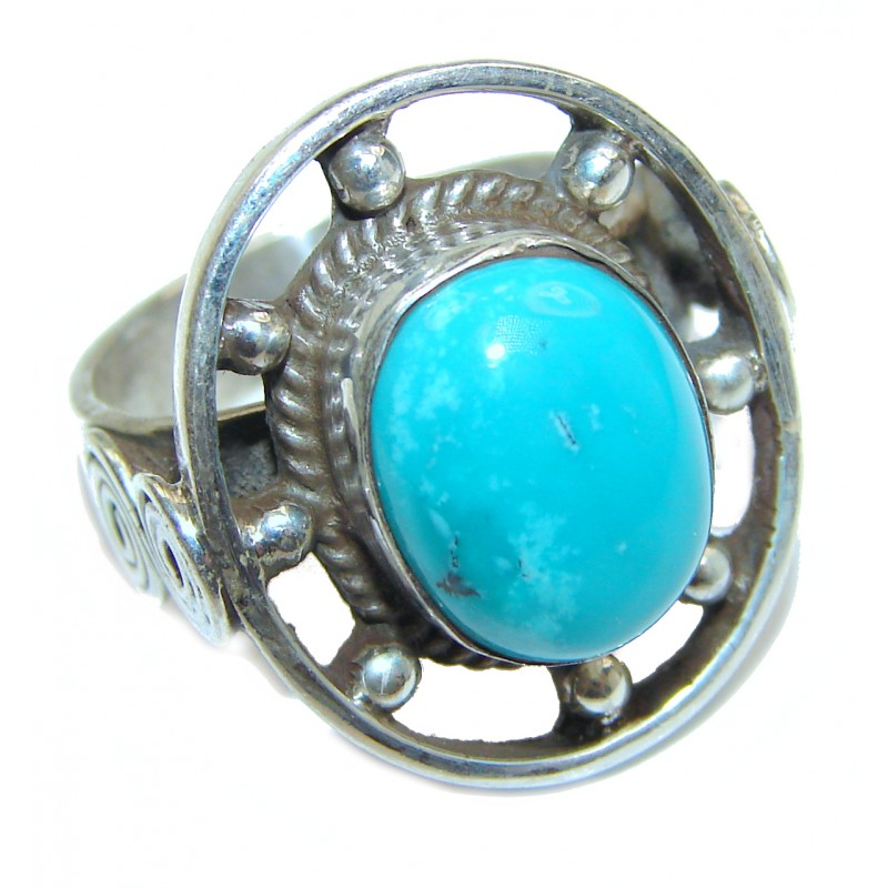 Turquoise Wheel Fashion Ring