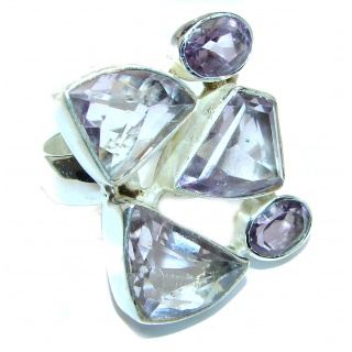 Purple Perfection Amethyst .925 Sterling Silver Ring size 9