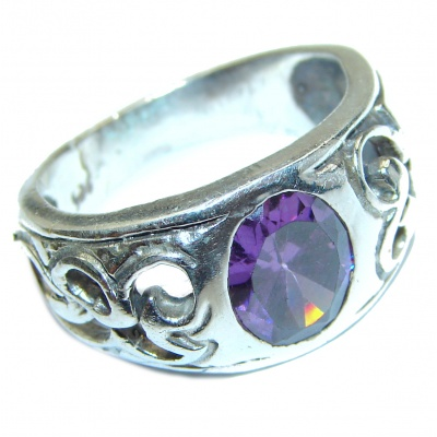Purple Perfection Amethyst .925 Sterling Silver Ring size 8