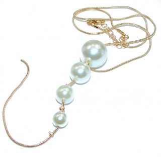 Posh Pearl 14K Gold over .925 Sterling Silver handmade Necklace