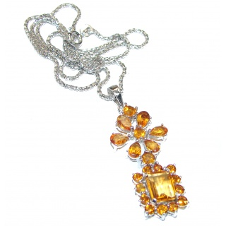 Genuine Citrine .925 Silver handcrafted Necklace