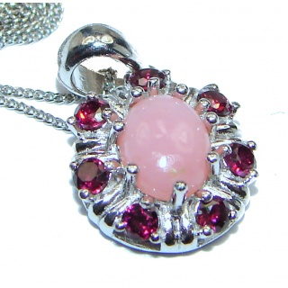 Pink Opal .925 Sterling Silver handmade Necklace