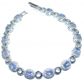 Fancy Style Authentic Tanzanite .925 Sterling Silver handcrafted Bracelet