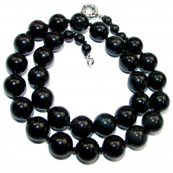 Black Whisper Black Onyx Sterling Silver necklace