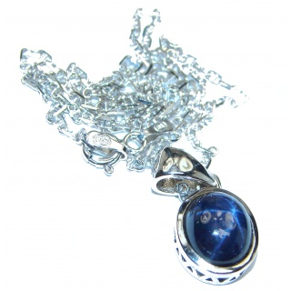 Star Sapphire .925 Sterling Silver handmade Necklace