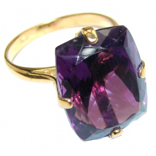 28ctw Purple Perfection Amethyst .925 Sterling Silver Ring size 8 1/2