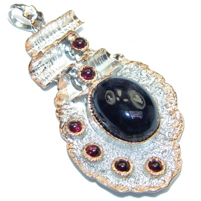 Spectacular Amethyst .925 Sterling Silver handcrafted pendant