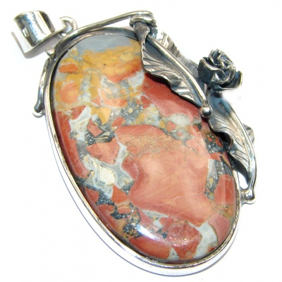Perfect quality Red creek Jasper .925 Sterling Silver handmade Pendant