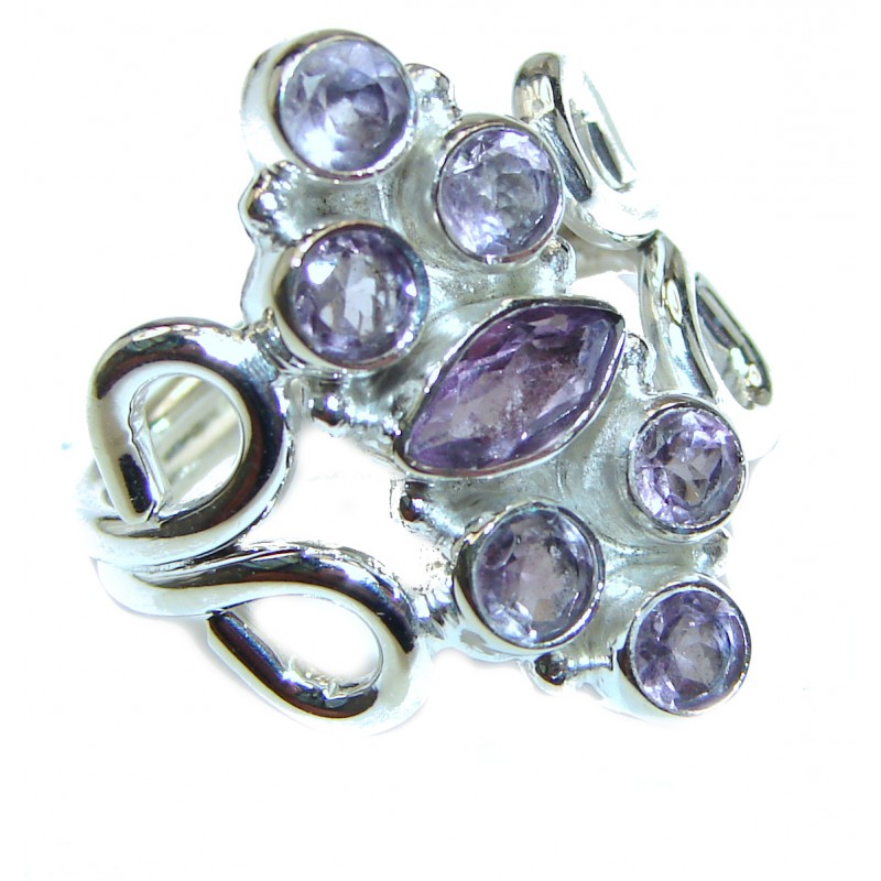 Purple Great Perfection Amethyst .925 Sterling Silver Ring size 7 1/2