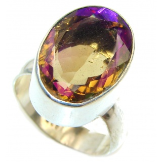 Awesome Natural Magic Topaz .925 Silver Ring size 9 3/4
