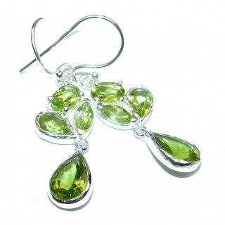 Delicate Peridot .925 Sterling Silver handcrafted earrings