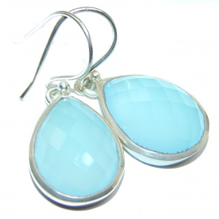 Simple Design excellent Botswana Agate .925 Sterling Silver earrings