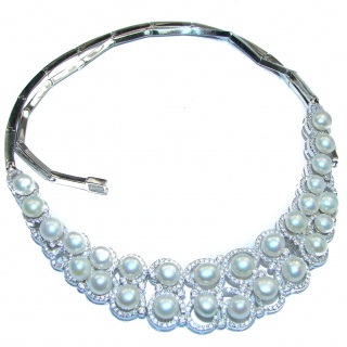 genuine Fresh Water pearl .925 Sterling Silver handcrafted Necklace