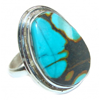 Turquoise .925 Sterling Silver ring; s. 7 1/4