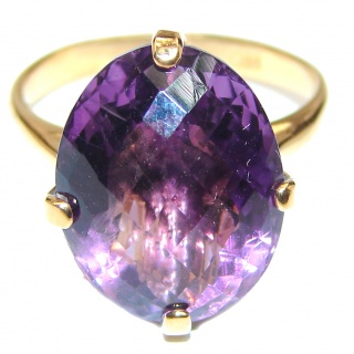 24ctw Purple Perfection Amethyst 18K Gold over .925 Sterling Silver Ring size 8 3/4
