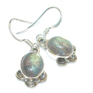 Natural Blue Labradorite Sterling Silver stud earrings