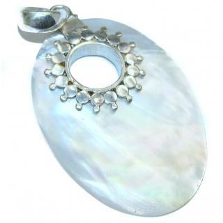 Classy Blister Pearl .925 Sterling Silver Pendant