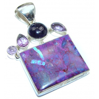 Artisan Design purple Turquoise .925 Sterling Silver pendant