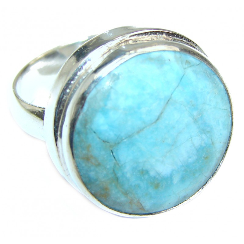 Large Sea Sediment Jasper .925 Sterling Silver handmade ring size 10