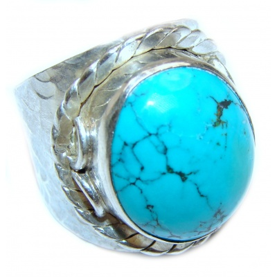 Turquoise .925 Sterling Silver ring; s. 8 3/4