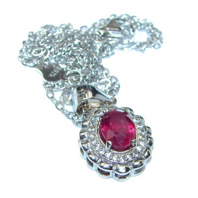 Princess Incredible Authentic Ruby .925 Sterling Silver necklace